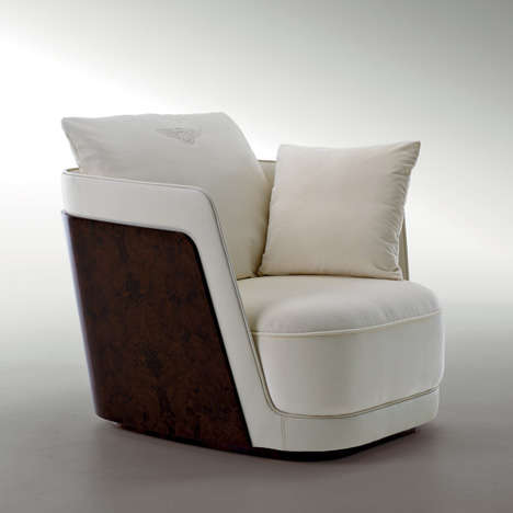 Luxury Automaker Armchairs - Bentley Home Furniture is Perfect for High-Class Gearheads