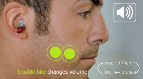 Bite-Controlled MP3 Players - Split Earbuds Let You Control Music Using Only Your Mouth