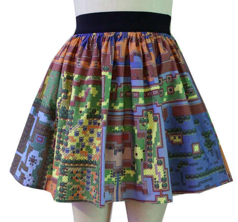 8-Bit Cartography Kilts - The Map of Hyrule Skirt is Designed for Fashionable Zelda Superfans