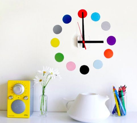 Colorful Adhesive Clocks