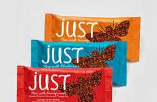 Simplified Snack Packaging - Just Bar Branding Keeps its Image as Straightforward as its Ingredients