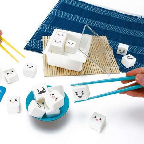 Quirky Childrens Chopstick Games - The Manner Tofu Chopstick Games Tests Your Skills