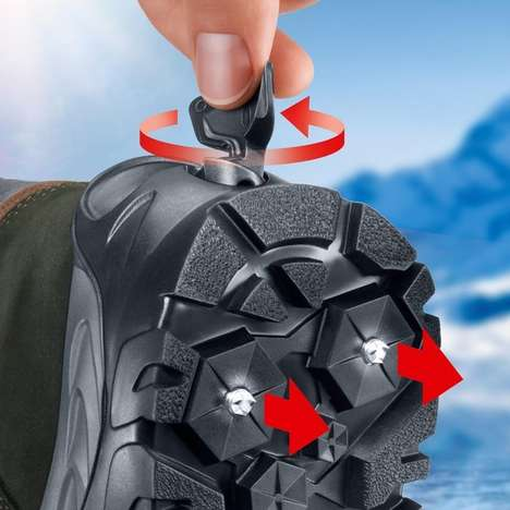 Weather-Ready Spiked Boots - These Retractable Spiked Boots by Meindl Keep You On Your Feet