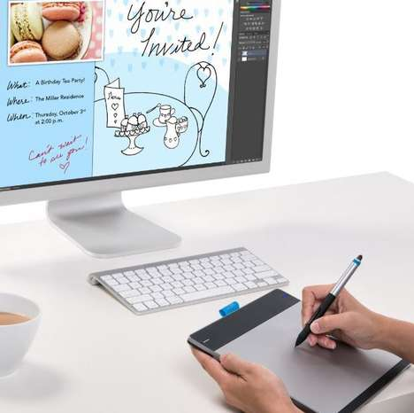 Digital Sensory Drawing Tablets - This Digital Drawing Tablet is a Canvas for Art Projects