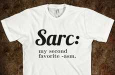 The Zazzle Sarcasm T-Shirt States Irony Finishes Second
