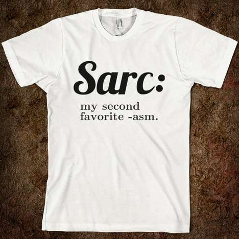 Suggestive Sarcastic Tees - The Zazzle Sarcasm T-Shirt States Irony Finishes Second