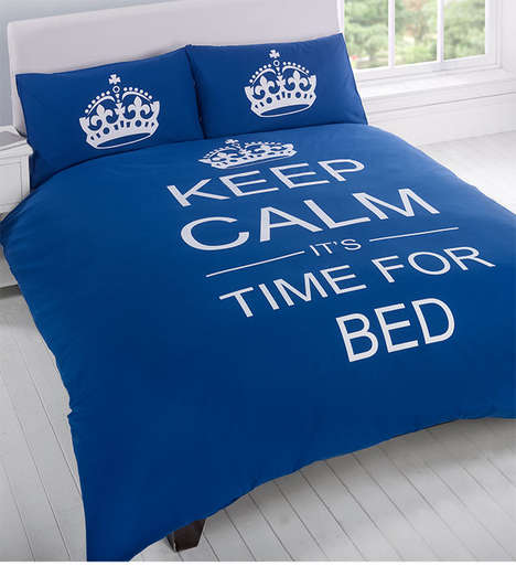 Sleep-Encouraging Bedspreads - This Keep Calm Bedding Motivates You to Get Some Rest