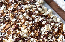 Campfire-Style Popcorn - S'Mores Popcorn Puts a Fun Twist on the Favorite Movie Snack
