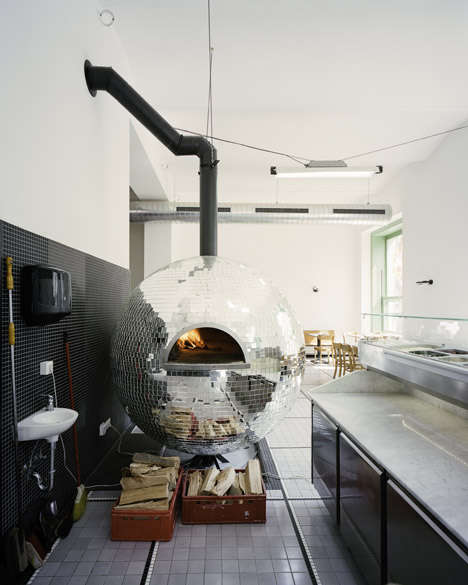Disco Ball Pizza Ovens - The Disco Volante Pizza Over Lights Up When Running Low on Dough