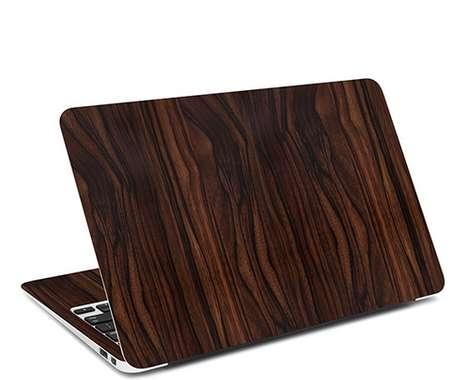 Faux Wood Laptop Skins