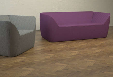 Comfy Angular Couches - The Grafton Series Has Soft Slants That Cradle the Sitter