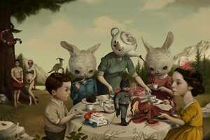 Roby Dwi Antono's Macabre Art Portrays Children in a Fantasy L