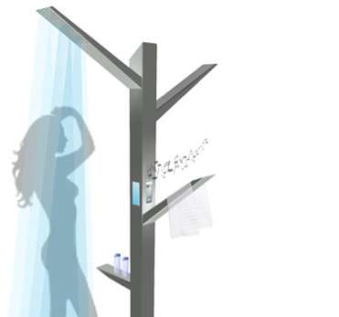 Innovative Arboreal Showers - The Smart-Shower Branches Out to Facilitate Every Step of Your Ritual