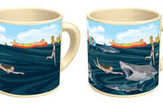 Animated Heat Mugs - These Heat-Sensitive Mugs Display New Artwork Based On Temperature