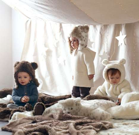 Teddy-Eared Fur Coats - These Luxe Faux Fur Jackets Have Cute Details Your Kids Will Love