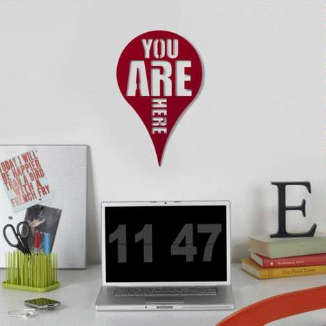Pin-Like Wall Art - This Panic-Reducing Digital Wall Decal Reminds You Where You Are