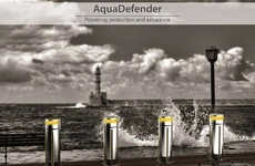 The AquaDefender Has Extendable Barriers to Block Floods