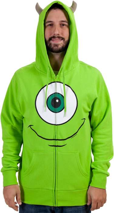 One-Eyed Monster Hoodies - Become Mike Wazowki from Monsters, Inc. with This Super Cozy Sweater