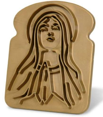 Religious Breakfast Accessories - The Holy Toast Bread Stamp Makes for a Divine Morning