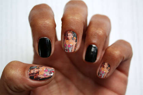 Miley Cyrus Nail Art Decals