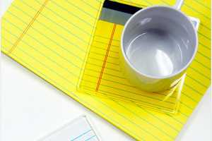 The Re-Writable Cup Coasters are Convenient and Crafty