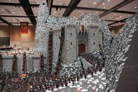 Massive Film Toy Sculptures - This Lord of the Rings Custom LEGO Set Uses Over 150,000 Pieces