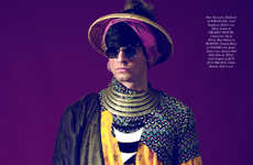 Culturally Conceptual Captures - The Surreal Szechuan Accent Magazine Fashion Story is Opulent