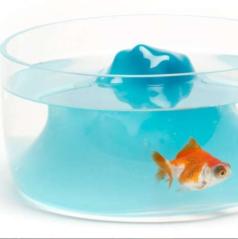 Galactic-Inspired Fish Bowls - The Space Mountain Fish Bowl Makes an Iconic Coaster into a Home