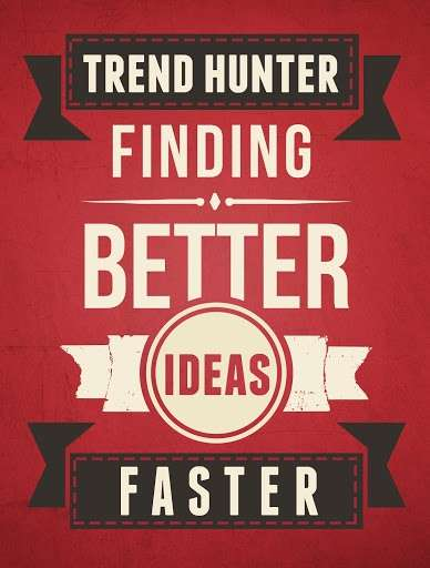 "Typographic Trend Hunter Posters - This Flat-Style Poster Helps You ""Find Better Ideas, Faster"""