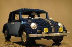 LEGO Volkswagen Beetles - The Iconic 1960 Charlotte Model is Rendered in Toy Building Blocks