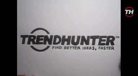 Stop Motion-Made Trend Hunter Logos - We Got our Logo Speed-Drawn on Fiverr