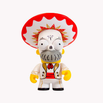 Mexican-Inspired Cartoon Icons - The Kidrobot x Simpsons Homer Day of the Dead Marichi is Detailed