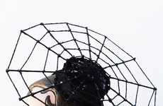 Webbed Goth Fascinators - Etsy's Batcakes Couture Shop Features This Sculptural Hat Accessory