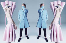 Surreal Mirror-Image Editorials - The 4Real Oyster Magazine Fashion Story is Visually Conceptual