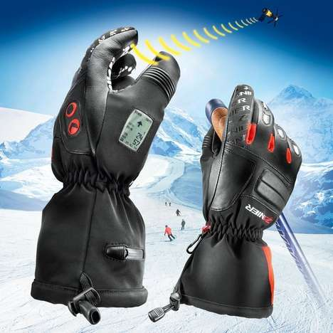 GPS-Enhanced Ski Gloves - These Ski Gloves Measures Your Velocity and Displays Your Location