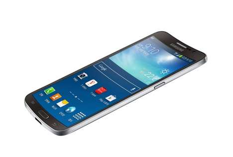 Curvy Korean Smartphones - The Samsung Galaxy Round Sports a Curved Body and Screen
