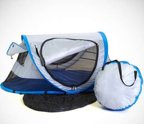 Portable Sleeping Bag Homes - The Peapod Travel Bed is Perfect for Camping with Your Kids