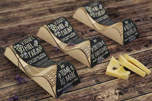 Violet Hill Farm Cheese Packaging Emulates the Cows' Grazing Landscape