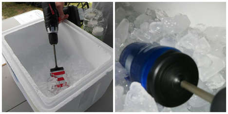 Beer-Cooling Power Tools - Spin Chill Cools Beer in Seconds Using Power Drills and AA Batteries