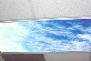 The Sky Light Covers Provide a Reprieve on the Ceiling