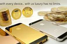 Gilded iPhone Cases - BBLuxury Specializes In Gold, Platinum and Rose Gold Smartphone Covers
