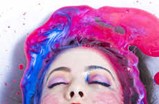 Colorful Ink Bath Shoots - Eric Mansuell Captures a Woman Bathing in Multicolored Fluid