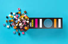 Candy-Patterned Cartons - All Sorts Packaging Boldly Displays the Bright Shapes of its Contents