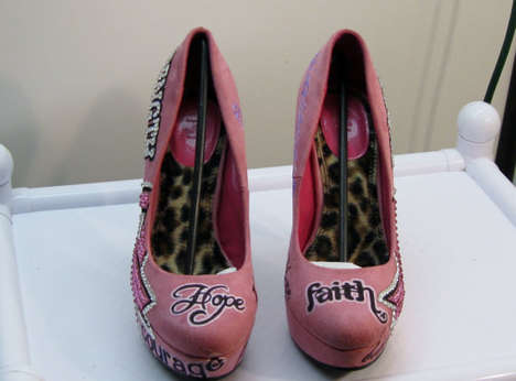 Pink Cancer Awareness Pumps - Show Your Support for Finding a Cure with These Breast Cancer Shoes