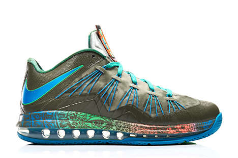 Swamp-Inspired Sneakers - The Air Max LeBron 10 Low 'Swamp Thing' is Creepy