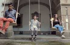 Amusing Musical Swing Sets - The Baloica Sound Exhibit Adds Some Swinging Musical Notes to Your Day