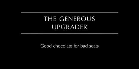 Charitable Traveler Chocolates - The Anthon Berg Generous Upgrader Rewards Those with Bad Seats