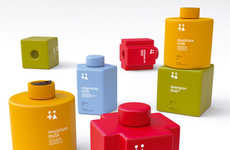 Stackable Toiletry Bottles - '4 Your Baby' Essential Toiletry Bottles Make Traveling Hassle-Free