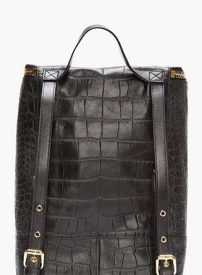 leather crocodile print