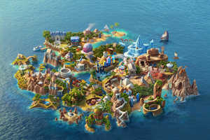 'Casino Saga' is a Mind Blowing Virtual Island Made from Scratch
